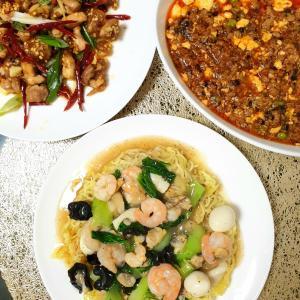 ガッツリ大皿中華( ・ㅂ・)و ̑̑旦那作ご飯