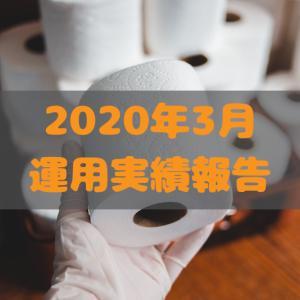 2020年3月運用実績|投資信託がコロナショックで12月からマイナス20%(笑)