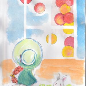 水彩画・色んな丸
