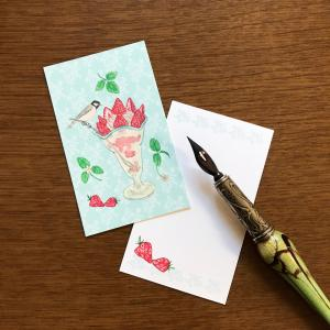新作:「鳥の純喫茶」メッセージカード