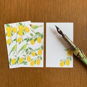 新作:Message Card レモンと青羽木葉鳥