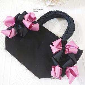 レッスンレポ◇「MAIKOBag」ピンクと黒の素敵なリボンバッグになりました