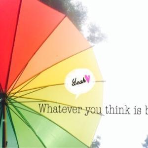 雨の日には「色のシャワー」を♪
