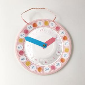 さんすう工作・紙皿時計