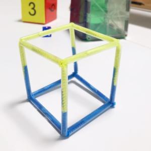 モール工作(立方体)とお返し