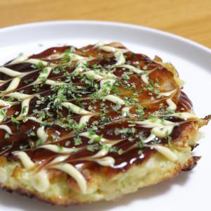 【簡単レシピ】米油でカリッ!ほぼキャベツ。な、お好み焼き