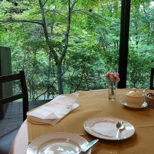 (GOTOトラベル★軽井沢)ホテルの朝食と朝さんぽ。