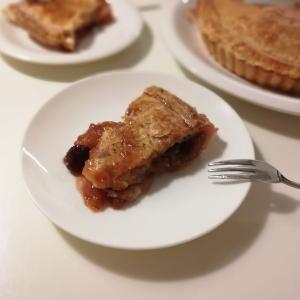 【おやつ】フレッシュさくらんぼで♪アメリカンなチェリーパイ