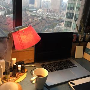 上海2390日目 家カフェでデザインetc