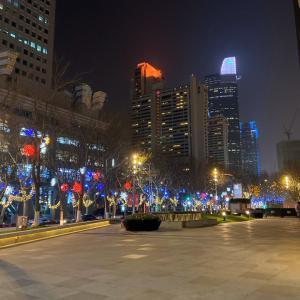上海2460日目 南京西路駅付近の夜景