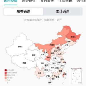 中国のCOVID-19感染症例数5/8pm7:23