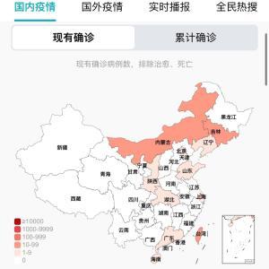 中国のCOVID-19感染症例数5/21pm7:52