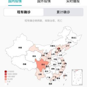中国のCOVID-19感染症例数 7/3pm11:52