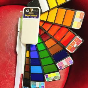 タオバオで購入!携帯用固形絵の具セット