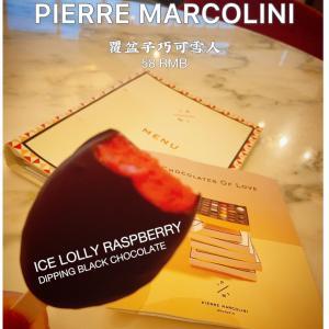 ピエールマルコリーニのラズベリーアイスチョコ漬け
