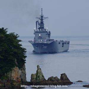 海上自衛隊輸送艦「おおすみ」来る