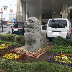 水戸を守って!大工町交差点の獅子像