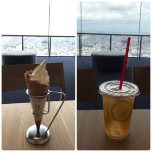 茨城県庁 展望フロアのカフェ