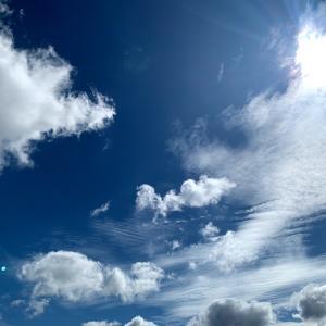 温帯低気圧が抜けた後の空