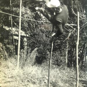私の少年時代ー17(空地での棒高跳び)