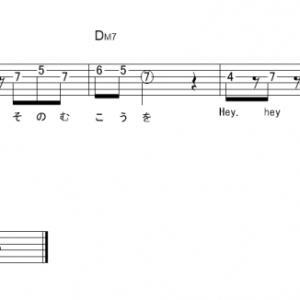 「ノーダウト  (サビ)」【Official髭男dism】_ギターTAB譜(メロディ+コード)