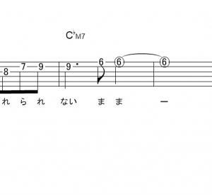 「イエスタデイ (サビ)」【Official髭男dism】_ギターTAB譜(メロディ+コード)