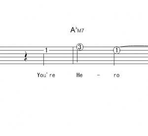 「 Hero (サビ)」【嵐 (ARASI)】_ギターTAB譜(メロディ+コード)