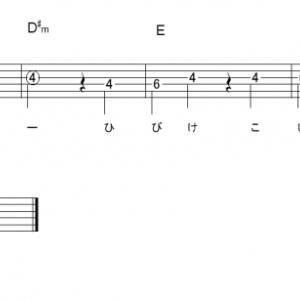 「小さな恋のうた(サビ)」【MONGOL800】_ギターTAB譜(メロディ+コード)