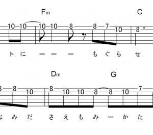 「葵(サビ)」【あいみょん】_ギターTAB譜(メロディ+コード)