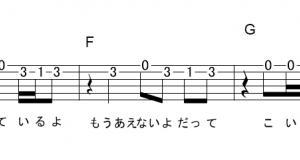 「恋人ができたんだ (サビ)」【My Hair is Bad】_ギターTAB譜(メロディ+コード)