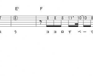 「コノウタ (サビ)」【ももいろクローバーZ】_ギターTAB譜(メロディ+コード)