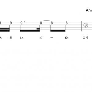 「青春賦 (サビ)」【ももいろクローバーZ】_ギターTAB譜(メロディ+コード)