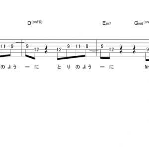 「蜜の月 (サビ)」【SEKAI NO OWARI】_ギターTAB譜(メロディ+コード)