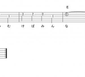 「マスカット (サビ)」【ゆず】_ギターTAB譜(メロディ+コード)