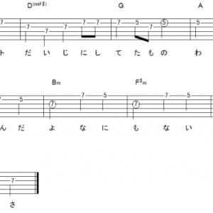 「シルエット(サビ)」【KANA-BOON】_ギターTAB譜(メロディ+コード)