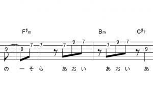 「ブルーバード(サビ)」【いきものがかり】_ギターTAB譜(メロディ+コード)