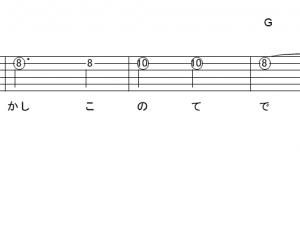 「心絵 (サビ)」【ロードオブメジャー】_ギターTAB譜(メロディ+コード)