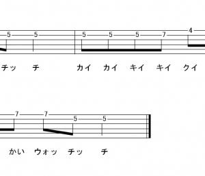 「ようかい体操第一 (サビ)」【Dream5】_ギターTAB譜(メロディ+コード)