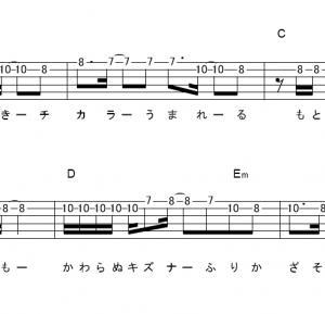 「Hope(サビ)」【安室奈美恵】_ギターTAB譜(メロディ+コード)