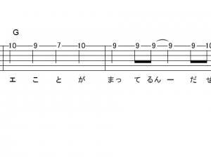 「超絶☆ダイナミック!(サビ)」【吉井和哉】_ギターTAB譜(メロディ+コード)