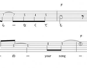 「ブレス(サビ)」【ポルノグラフィティ】_ギターTAB譜(メロディ+コード)