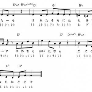 【パプリカ  / Foorin・米津玄師】ドレミ付きメロディ  1コーラス・無料版楽譜
