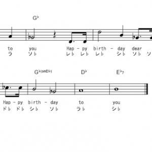 誕生日曲 ドレミふりがな付き簡単楽譜【無料】  (2曲) 涙サプライズ など