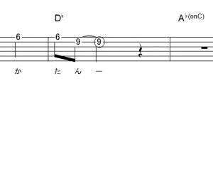 「 君しか勝たん (サビ)」【日向坂46】_ギターTAB譜(メロディ+コード)