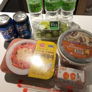 2017.11 ソウル3日目⑦禁断の夜食はピザの味