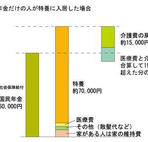 年金不足2000万円問題~国民年金だけの独居老人が特養に入ったらもっと足りない?