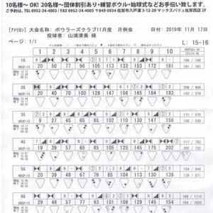 ボウラーズクラブ月例会(11月度)