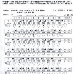ボウラーズクラブ月例会(1月度)