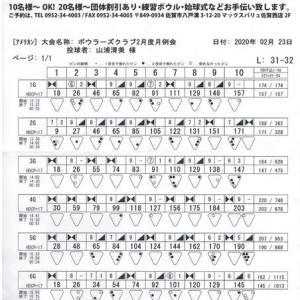 ボウラーズクラブ月例会(2月度)