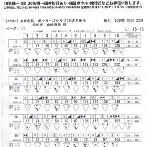 ボウラーズクラブ月例会(3月度)